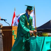 Seton's outdoor graduation ceremony.
