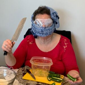 """a """"prophetic"""" picture: preparing Jalapeno Poppers for SUPER BOWL SUNDAY, 2020"""